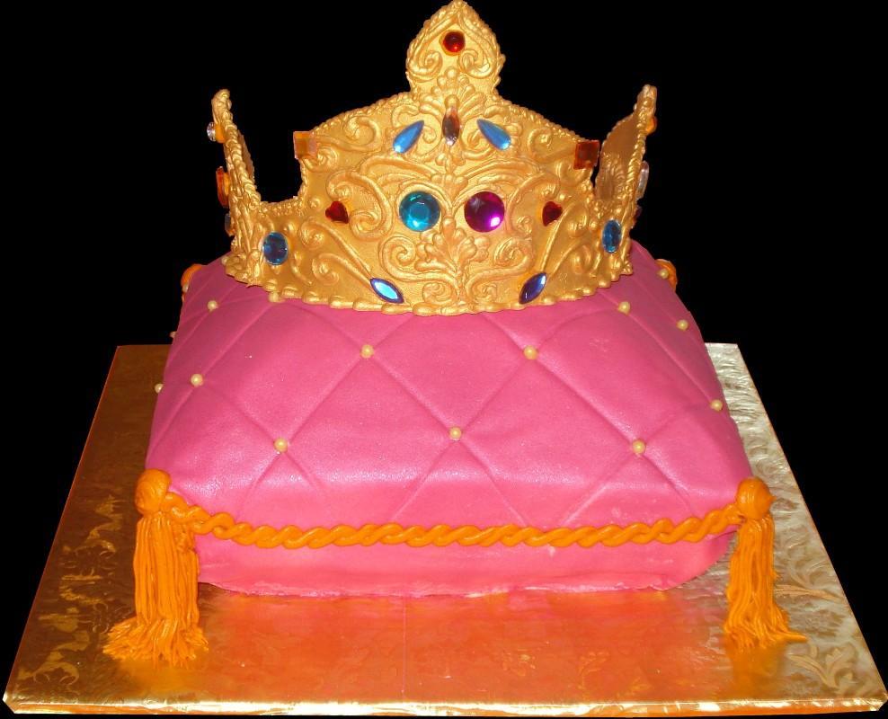 Birthday cakes sugar showcase tiara pillow birthday cake pink buttercream iced pillow shaped cake decorated with tassels izmirmasajfo