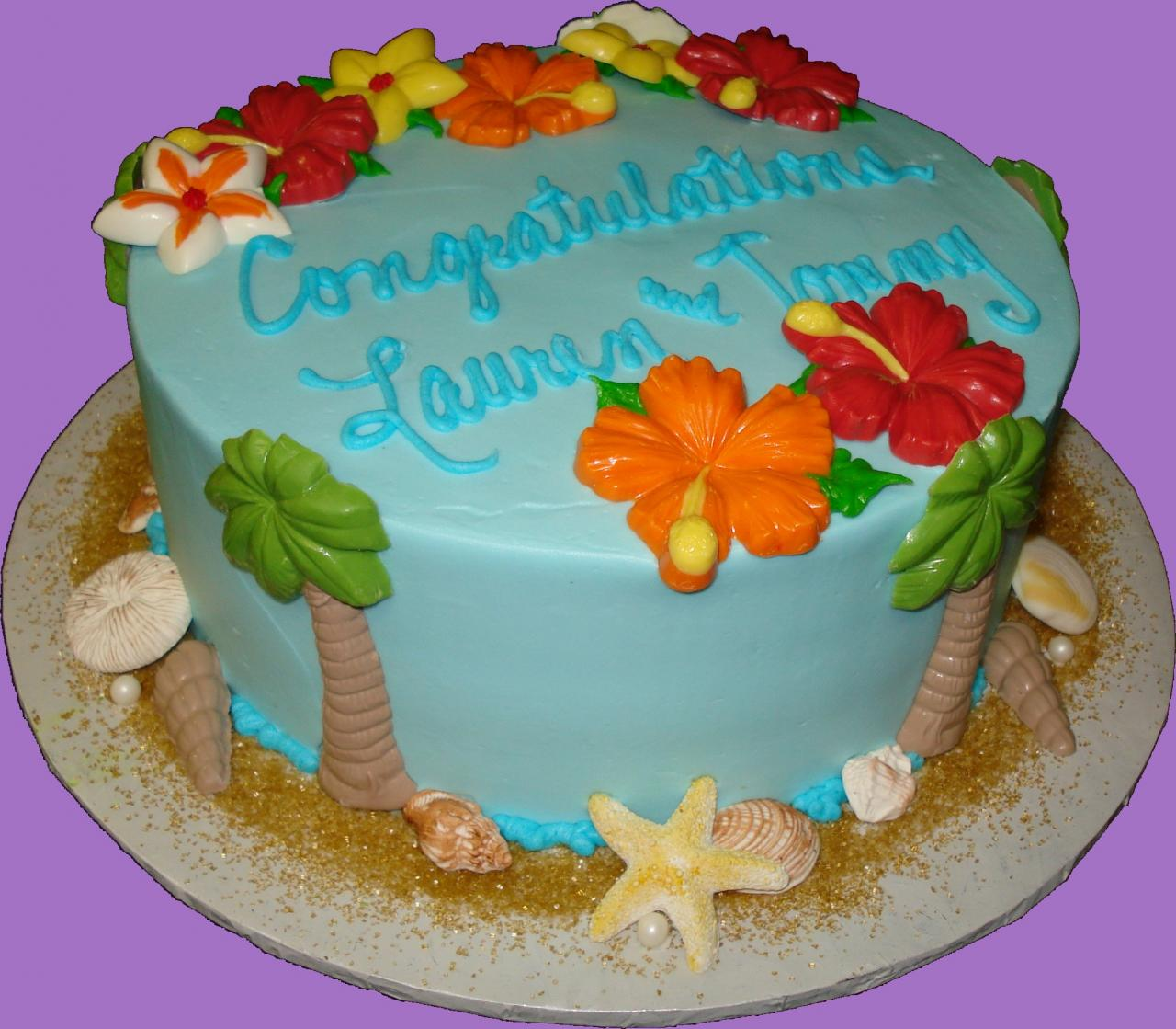 Tropical Birthday Cake Photos