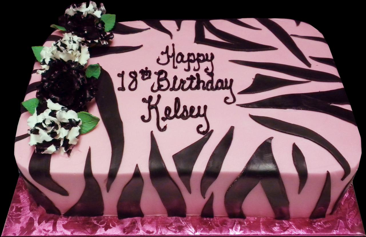 Sheet Cake Designs For 18th Birthday : Birthday Cakes Sugar Showcase