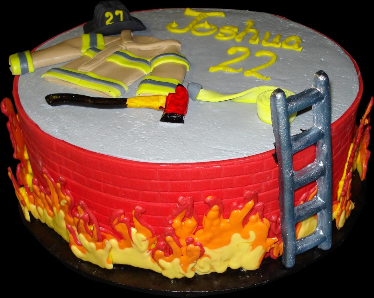 Firefighter Birthday Cake Decorations Shelly Lighting