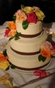 triple swiss dot wedding cake all cakes sugar showcase 21270